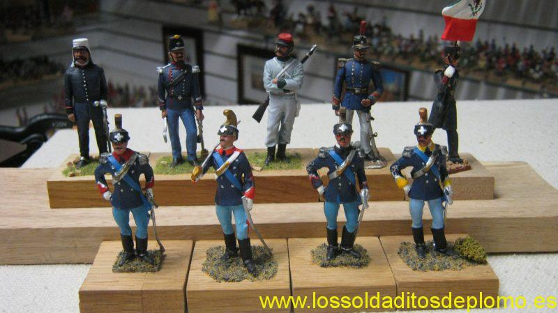 ItalianAtmy- General Campaign Dress,Officer Artillery Train 1861.Dunne's Brigade 1800.by Ensign.Officer Piedmont by Lasset.Standard 190