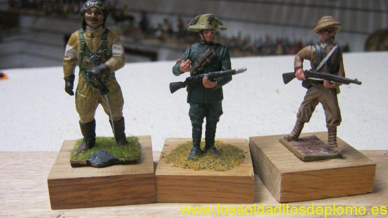 Japanese Pilot 1942 and Carabinieri 1917 by Amati. Chinese Infantry 1930 by Monogram