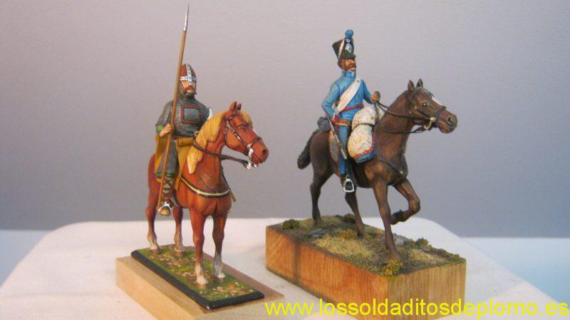 Lasset -Norman,1100,French Hussar ,Spain ,painted by Jean Abell -Collectable