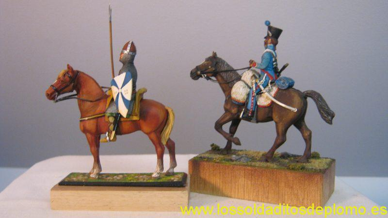 Lasset -Norman,1100,French Hussar ,Spain ,painted by Jean Abell -Collectable -b
