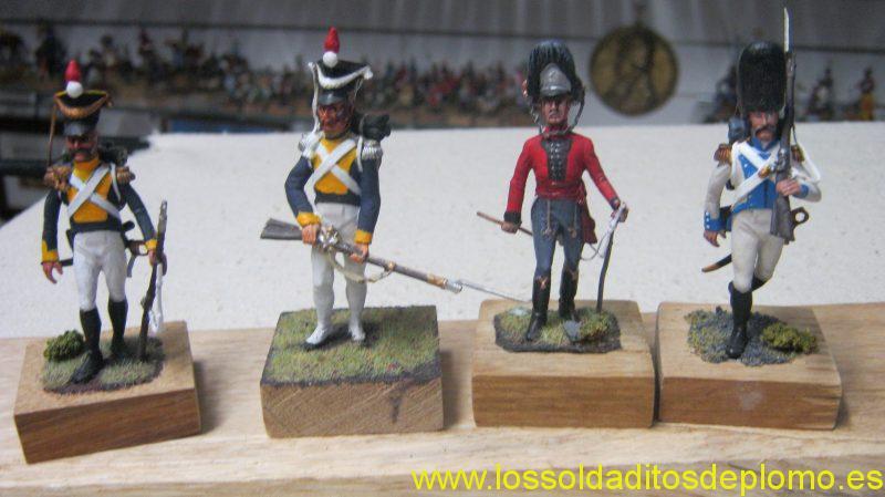 Lasset-Polish Vistula Regiment,Norwegian Life Guard,Princessa Grenadier ,1809.