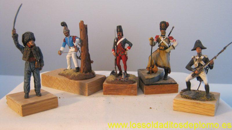 Marengo-Cabinier,1812.Pandur of Trenk,1740. Romeo Models -Sapper,Papal States 1826. Soldiers by Lucchetti-Desvaux,1812.Carabinieri Real