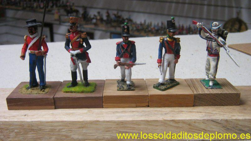 Mexican Army-Lancer and Dragoon 1840 by Stadden.Light Infantry by Gerry Ford.Irregular Infantry by Btrtains