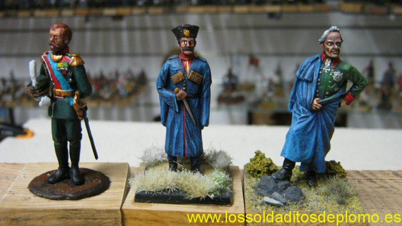 Nicolas II and Escort Cossack,by Old Guard and Suvorov by Berutto