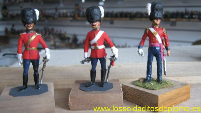 Officer and Trooper ,Scots Greys and Officer, Coldstream Guards,1900's by Hinton Hunt