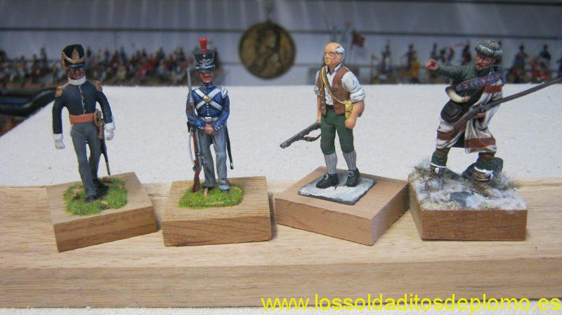 Officer,Anglo-American War,1812 by Stadden,US 5th.Infantry 1820 by Bussler,Volunteer AWI by Old Guard and Rogers Ran