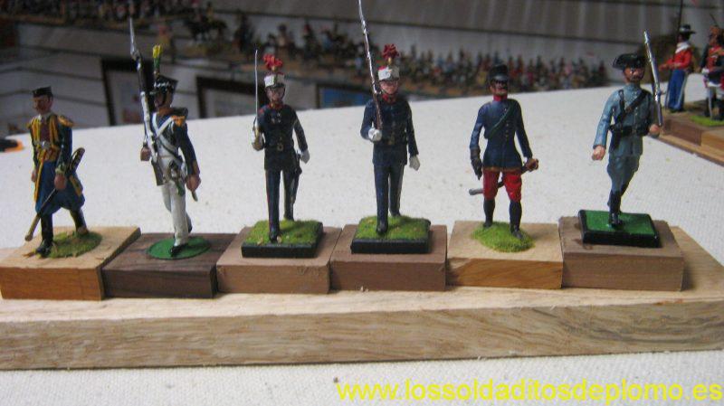 Officer,Montgrin 1896,Patria Regiment 1868.Royal Guard 1998.Spanish Officer 1910. Guarde Civil 1936 by Alymer