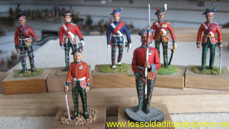 Officers,Kings Own Scottish Borderers(KOSB's) 1900's by Stadden,Troopers by Art Girona and Ensign