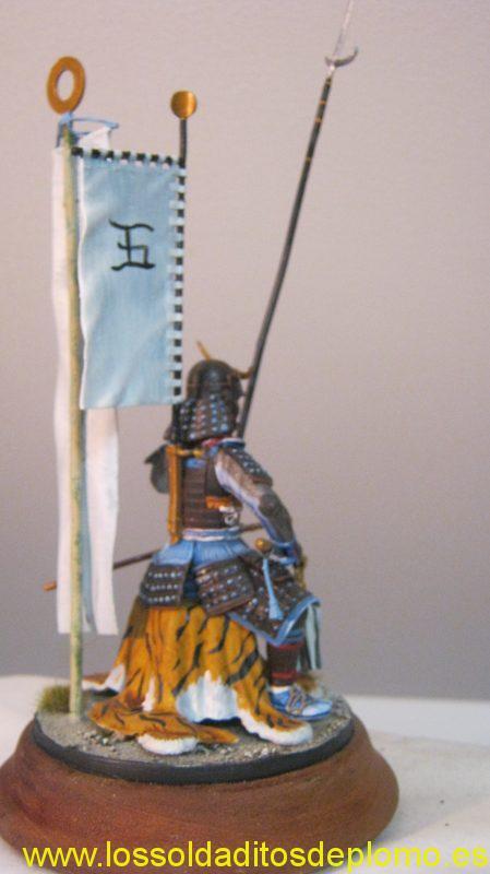 Poste Militaire 90mm-Samurai Momoyama Period -d
