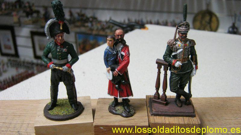 Prince Bagration 1805, Tsarevich Nicolas & Uncle Alexei 1910,Colonel Life Guards 1894 by EK Castings
