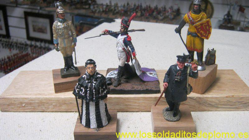 RK Models 75mm-Kaiser Wilhelm. Benieto-Imperial Guard, Borodino 1812. Pipercraft-Robert the Bruce 1314.Tussauds-Victoria.King and Count