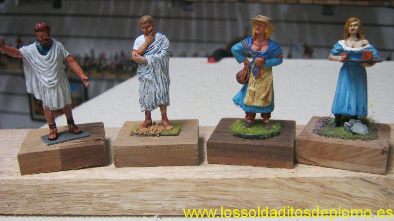 Romans By Sanderson ,Females by Border Miniatures and Stadden