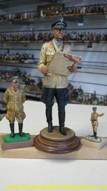 Rommel 100mm By Ron Cameron,200mm marked De Prado 1995,and 60mm Wm.Britains