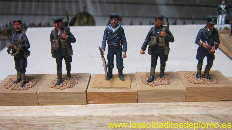 Royal Navy Marines 1914 by Hinchliffe