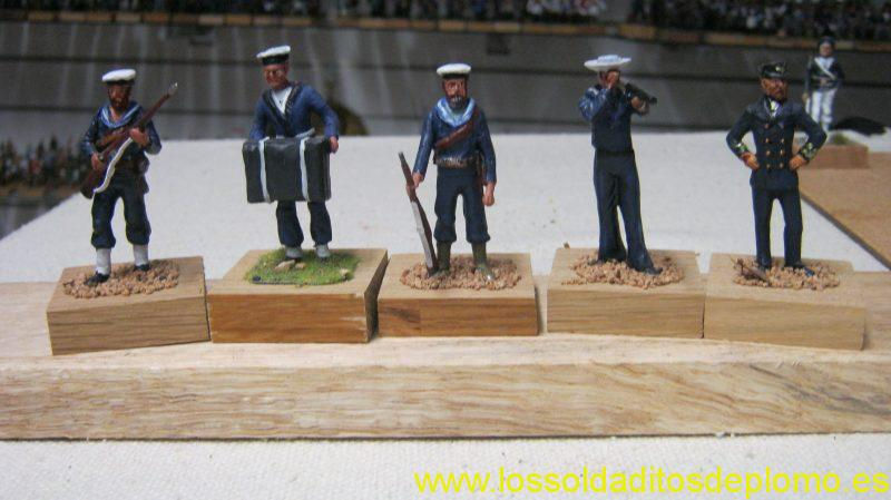 Royal Navy Ratings 1914 ,Seaman with Telescope 1898 and Captain 1914 all by Rose Miniatures