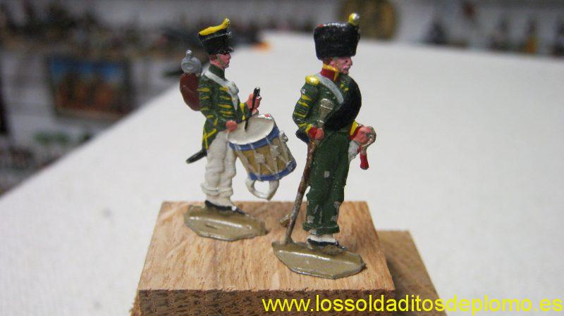 Russian Army -Drummer and Drum Major -35mm flats by M&F