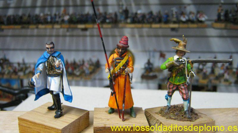 Russian Cadet Corps 1914,Streltsy 1694,Swedish Musketeer 1642 by Airfix Historex
