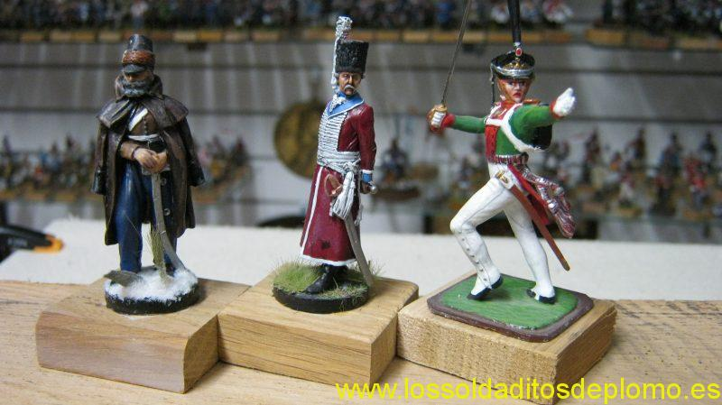 Russian Cossack and Cavalry by Franklin Mint,Grenadier Officer by EK Castings
