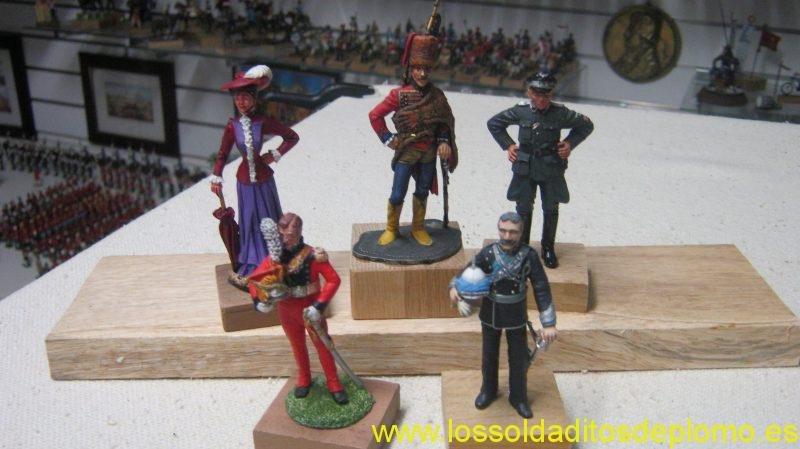 Sanderson 75mm-Victorian Lady. Phoenix-Prussian Hussar 1793. Waffen SS Freikorps. Lancer 1815. Mike French- 19th.Bengal Lancers 1880