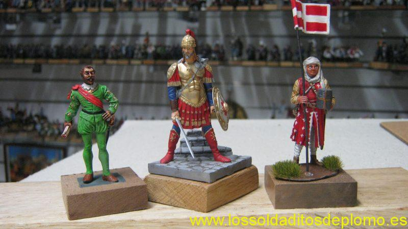 Sir Francis Drake by Phoenix.Byzantine Emperor by Seil Models.Crusader by White Tower
