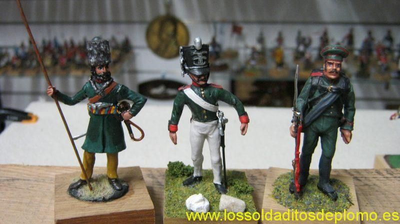 Tartar Cossack 1813 by Valiant(USA),Life Guard 1815 by Hinton Hunt and Preobragensky Regiment by Julian Benassi(Glasgow)