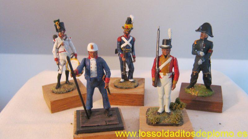 Valiant(US)-Austrian Drummer.Swedish Grenadier ,Leipzig 1813.French ADC 1813. Henrik Hertz-Marine Gunner,Musketeer Danske Livreregiment