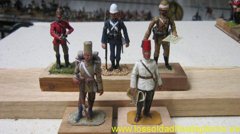 War in Egypt-Officer Coldstream Guards by Yeomanry.Trooper Horse Life Guards and Officer Black Watch by Stadden .Officer and Trooper Eg