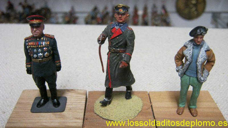 Zhukov by Phoenix,Von Runstedt by Deauville,Montgomery by Rose Miniature