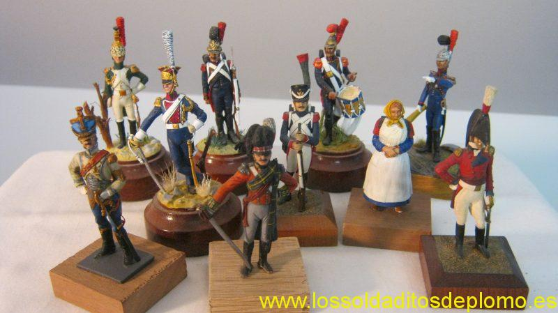 Rose Miniatures-French Empress Dragoon, Sapeur du Genie,Drummer and Officer,Lancer, Grenadier,Peasant,ADC,Highlander,and English Officer