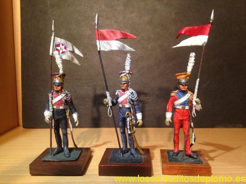 Lanceros polacos y holandés , escultura Galarreta y pintura Antonio