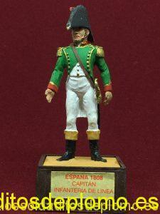 Marca Soldat. Capitán Infantería de Línea España 1808